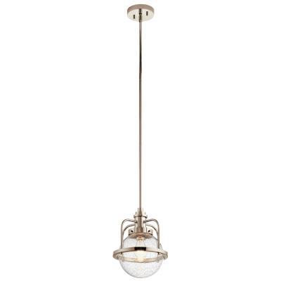Kichler 44206pn triocent one light pendant semi flush mount polished nickel