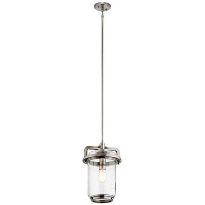Kichler 44211clp andover one light pendant classic pewter