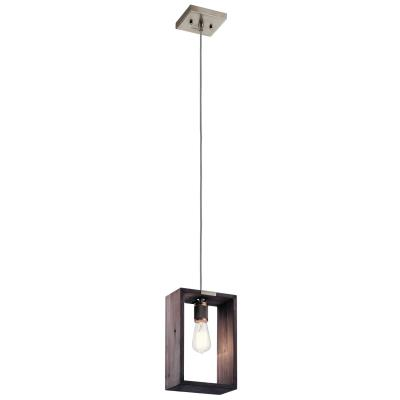 Kichler 44217clp industrial frames one light pendant classic pewter
