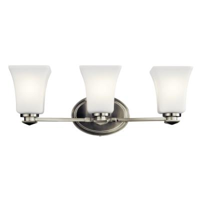 Kichler 45898ni clare three light bath brushed nickel