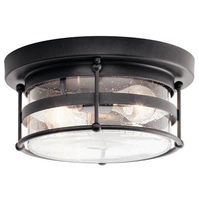 Kichler - 49965AVI - Mill Lane - Two Light Outdoor Ceiling Mount - Anvil Iron  sc 1 st  Brothers Lighting & Brothers Lighting