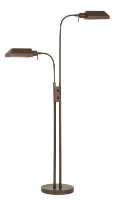 Hensons lighting two light floor lamp rust aloadofball Choice Image
