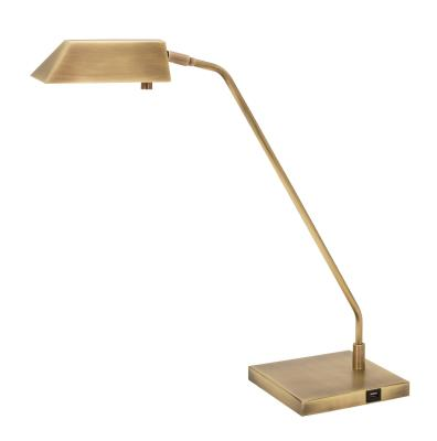 House of troy new250 ab newbury led table lamp antique brass
