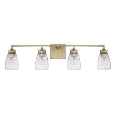 Capital lighting 129041wg 453 four light vanity fixture winter gold