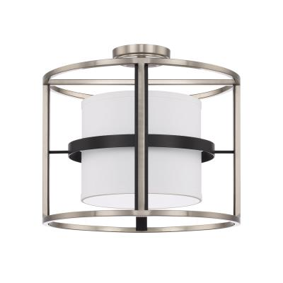 Capital lighting 225241bt four light semi flush mount black tie