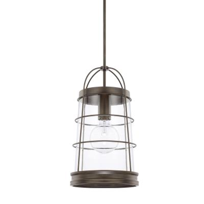 Capital lighting 327412ng beaufort one light pendant nordic grey