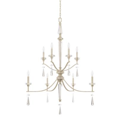 Capital lighting 527881ww eight light foyer chandelier winter white