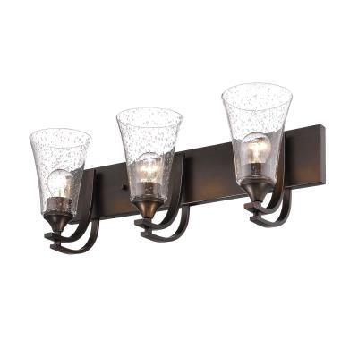 ... Millennium - 1493-RBZ - Three Light Vanity - Rubbed Bronze  sc 1 st  Magnolia Lighting & Magnolia Lighting