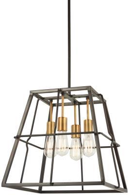 chuckanut lighting. Minka-Lavery - 4763-416 Four Light Pendant Painted Bronze W/ Chuckanut Lighting