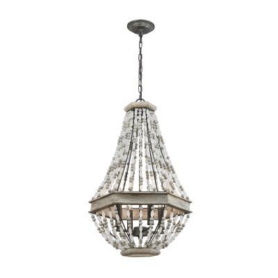 chuckanut lighting. Elk Lighting - 33193/4 Four Light Pendant Washed Gray/Malted Rust Chuckanut Lighting