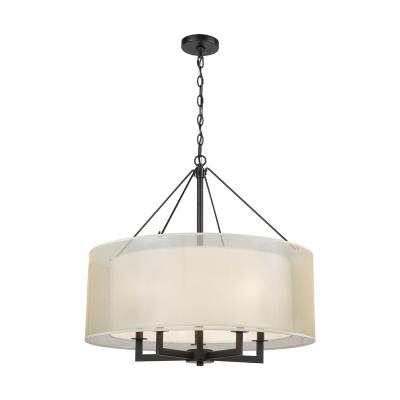 Ashland five light pendant matte black