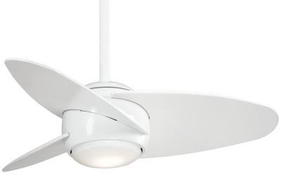 Capital lighting minka aire f410l wh slant 36ceiling fan white aloadofball Gallery
