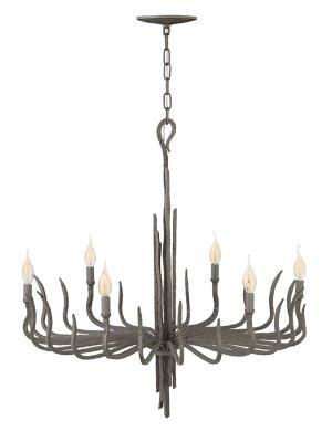 Fredrick ramond fr43416mmb spyre six light chandelier metallic matte bronze