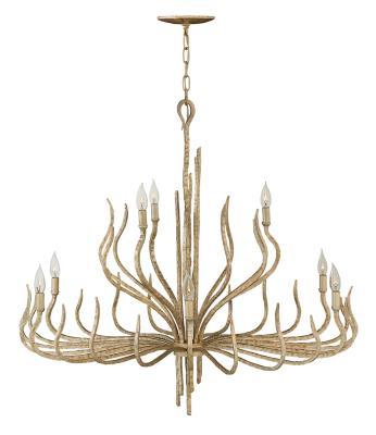 Fredrick ramond fr43419cpg spyre nine light chandelier champagne gold