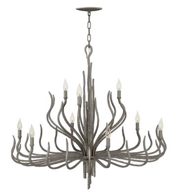 Fredrick ramond fr43419mmb spyre nine light chandelier metallic matte bronze
