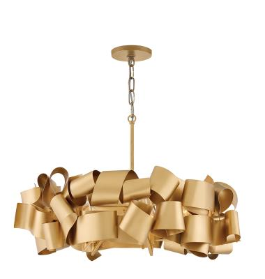 Fredrick Ramond Fr48604dxg Delfina Five Light Chandelier Deluxe Gold