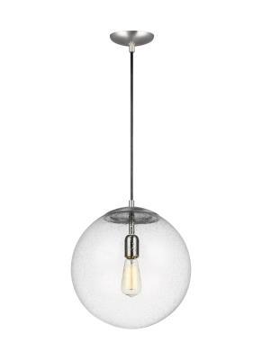 Allied lighting seagull 6801801 04 hanging globe one light pendant satin aluminum aloadofball Choice Image