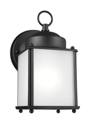 Seagull - 8592001-12 - New Castle - One Light Outdoor Wall Lantern - Black  sc 1 st  Lyons Lighting & Lyons Lighting