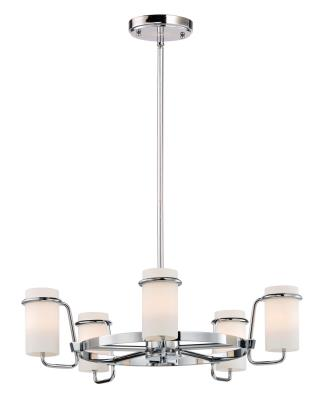 Maxim 22027swpc avant five light chandelier polished chrome
