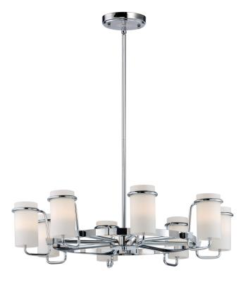Maxim 22029swpc avant eight light chandelier polished chrome