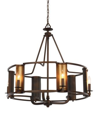 Maxim 30295chbgld candella six light chandelier chestnut bronze gold