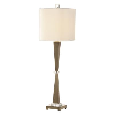 Uttermost 29618 1 Niccolai One Light Table Lamp Brushed Nickel