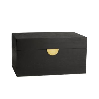 4a98591b7a Box - Ebony Oak Antique Brass