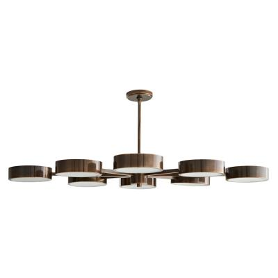 Arteriors 89117 eight light chandelier heritage brass