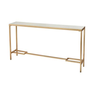 Console Table Gold And White