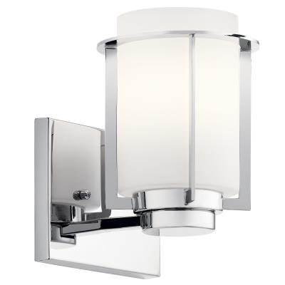 Kichler 45946ch Chagrin One Light Wall Sconce Chrome