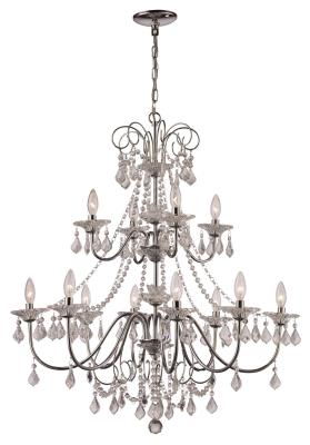 coventry lighting Antique Looking Ceiling Fans 12 light chandelier polished chrome