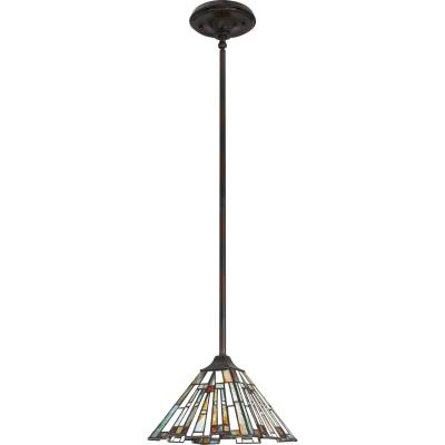Small Quoizel TFST1508VB Transitional Stephen Mini Pendant Brown