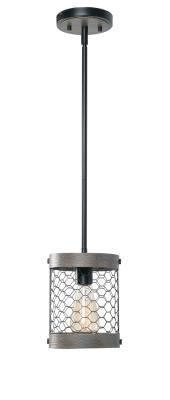 Kenroy Home 94065WW Cadmen Fixtures Weathered White with dDstressed Black Arms