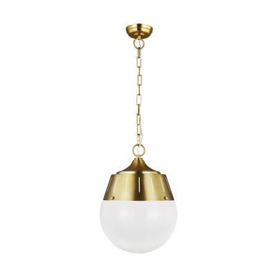 Feiss   TP1092BBS   Arlett   Two Light Pendant   Burnished Brass