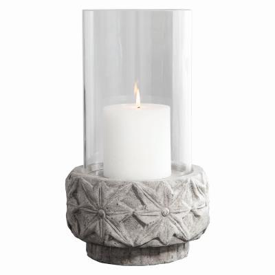 c498e59690 Uttermost - 17569 - Capistrano - Candleholder - Distressed Gray