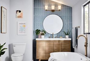 Bathroom lighting chandelier Flush Mount Bathroom Lights Handsomniaclub Bbc Lighting